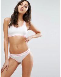 Calvin Klein - Pink Modern Cotton Thong - Lyst