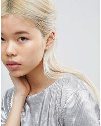 ASOS - Metallic Jewel Stone Earring - Lyst