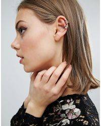 ASOS - Multicolor Pack Of 3 Star Ear Cuffs - Lyst