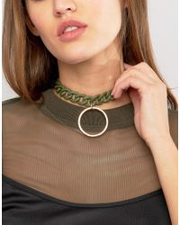 ASOS | Green Chain Toggle Choker Necklace | Lyst