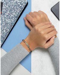 ASOS - Black Smooth Feather Friendship Bracelet - Lyst