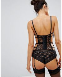 Bluebella - Black Xanthe Lace Caged Basque - Lyst
