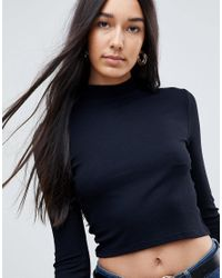 ASOS - Black Shirt Dress with Pulled in Waist - Lyst