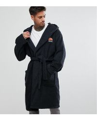 Ellesse Lounge Dressing Gown With Embroidered Logo In Grey in Gray ... 721373e0d