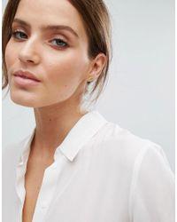 Pieces - Metallic & Julie Sandlau Gold Plated Juna Stud Earrings - Lyst