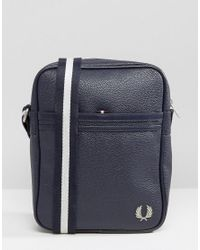 Fred Perry | Blue Scotch Grain Flight Bag In Navy for Men | Lyst