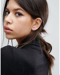 Pilgrim - Metallic Knot Stud Earrings - Lyst