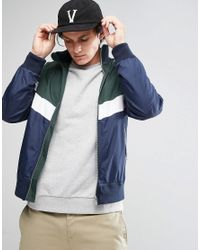 ASOS | Green Zip Through Track Jacket With Color Block for Men | Lyst