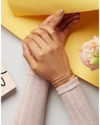 ASOS - Metallic Three Bar Cuff Bracelet - Lyst