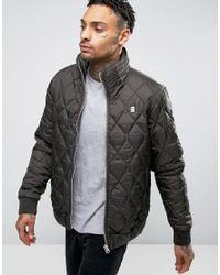 G-Star RAW | Green Meefic Quilted Jacket for Men | Lyst