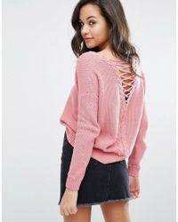Miss In Detail Jumper Pink Lattice Lyst Selfridge dT7xwq6