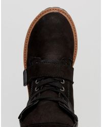 ALDO - Black Chunkylace Up Boots - Lyst
