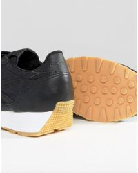 Reebok - Aztec Trainers In Black With Gum Sole - Lyst