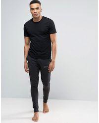 Jack & Jones | Black Cuffed Joggers In Slim Fit for Men | Lyst