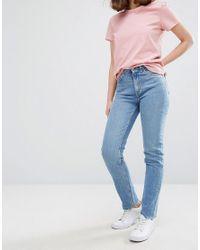 Weekday | Blue Way High Waist Slim Leg Jeans | Lyst