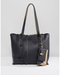 Oasis   Black Shopper Bag With Detachable Purse   Lyst