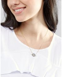 Ottoman Hands   Metallic Circle Evil Eye Necklace   Lyst