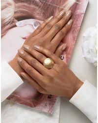Ottoman Hands - Metallic Disco Oval Statement Ring - Lyst