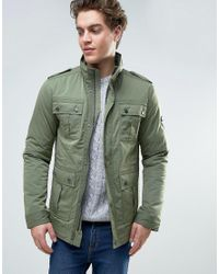 Tommy Hilfiger | Green Denim Four Pocket Military Field Jacket for Men | Lyst