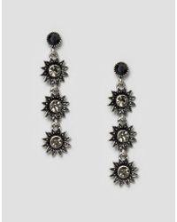 Ashiana - Metallic Statement Strand Earrings - Lyst