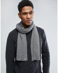 Original Penguin - Gray Twisted Yarn Scarf for Men - Lyst