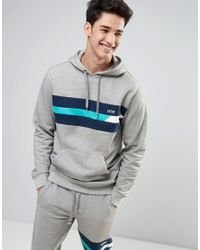 Vans | Ninety Three Pullover Hoodie In Blue Va315102f for Men | Lyst