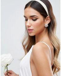 ASOS - White Wedding Faux Pearl Stud Earrings - Lyst