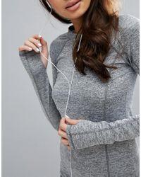 PRETTYLITTLETHING - Black Long Sleeve Gym Top - Lyst