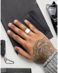 Seven London - Metallic Seven Sterling Silver Signet Ring Exclusive To Asos for Men - Lyst