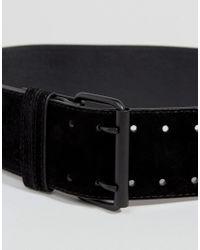 Glamorous - Black Faux Suede Wide Waist Belt - Lyst