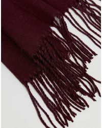 ASOS - Red Blanket Scarf In Burgundy Ombre for Men - Lyst