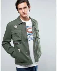 Jack & Jones | Green Originals Field Jacket With Military Patches for Men | Lyst