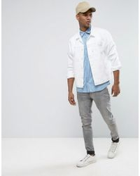 Jack & Jones - Blue Originals Short Sleeve Slim Fit Denim Shirt In Light Wash for Men - Lyst