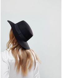 ASOS - Black Easy Felt Boater Hat With Size Adjuster - Lyst