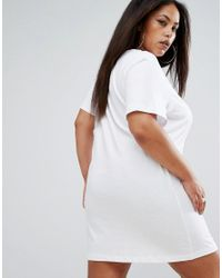 PUMA | Exclusive To Asos Plus T-shirt Dress In White | Lyst