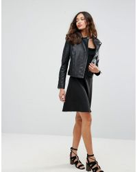 Barney's Originals - Black Fitted Leather Jacket - Lyst