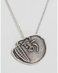 Cheap Monday - Metallic Mad Skull Necklace - Lyst