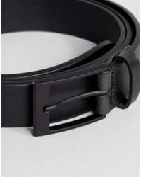 ASOS - Plus Made In England Smart Slim Belt In Black Leather for Men - Lyst