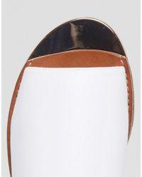 New Look - White Metal Detail Slingback Sandal - Lyst