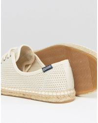 Soludos - Natural Derby Lace Up Mesh Espadrilles for Men - Lyst