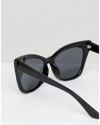 ASOS DESIGN - Black Basic Cat Eye Sunglasses - Lyst
