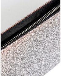New Look Metallic Ombre Glitter Zip Around Purse