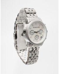 Michael Kors - Metallic Ritz Glitz Silver Chronograph Watch Mk5020 - Lyst