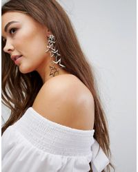 Boohoo - Metallic Star Overload Earrings - Lyst