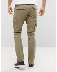 Only & Sons - Natural Cargo Pant In Slim Fit for Men - Lyst