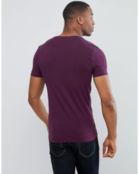 ASOS - Purple Muscle Fit T-shirt With Crew Neck 5 Pack Save for Men - Lyst