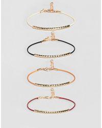 ASOS - Metallic Ditsy Bracelet Pack In Gold Tone for Men - Lyst