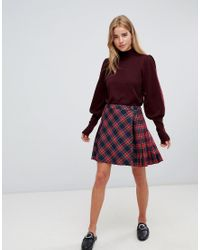 ASOS DESIGN - Red Asos Jumper With Full Sleeves And Roll Neck - Lyst