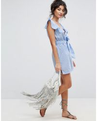 ASOS - Blue Striped Beach Dress  - Lyst
