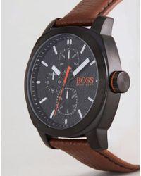 BOSS Orange By Hugo Boss 1550028 Capetown Leather Watch In Brown for men